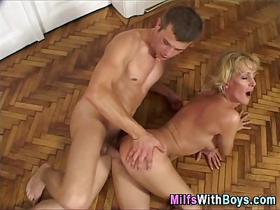 Blonde Sexy Mature Fucked and Facialized