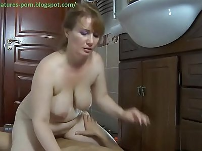 Mature anal sit on dick