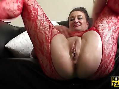 Facefucked mature Britt slut analy wrecked