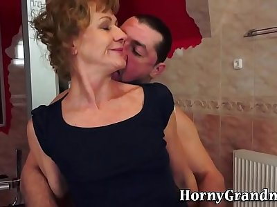 Ass plowed grandma jizzed