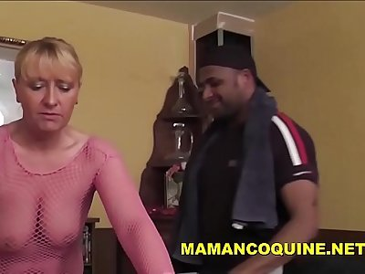 Sexy blonde mature woman gets a big black cock
