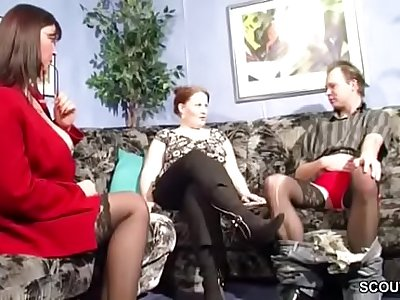 German MILF Teach Young Couple to Clear Sex Problems